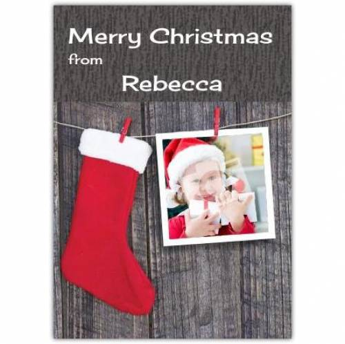 Merry Christmas Stocking Cloths Peg Card