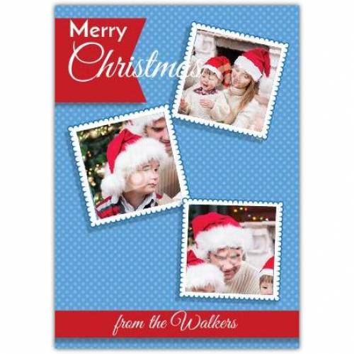 Three Photo Christmas Card