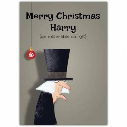 Scrooge Christmas Card