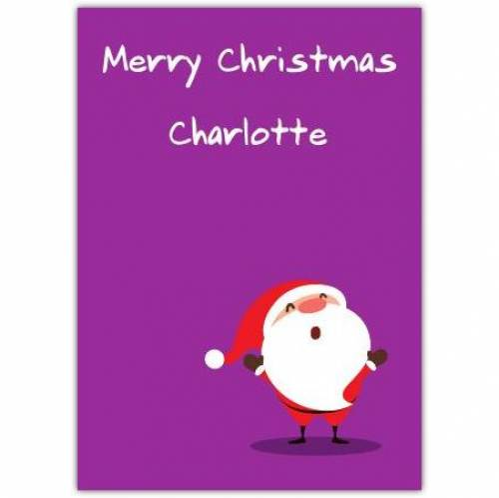 Cartoon Santa Christmas Card