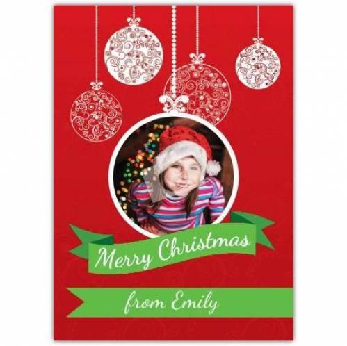 Photo Bauble Christmas Card