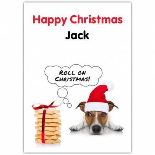 Dog Santa Hat Christmas Card