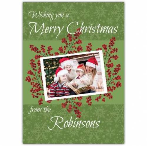 Photo Berry Christmas Card