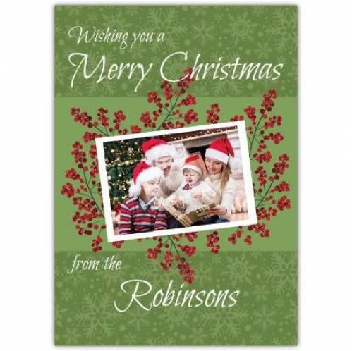 Photo Berry Christmas Card