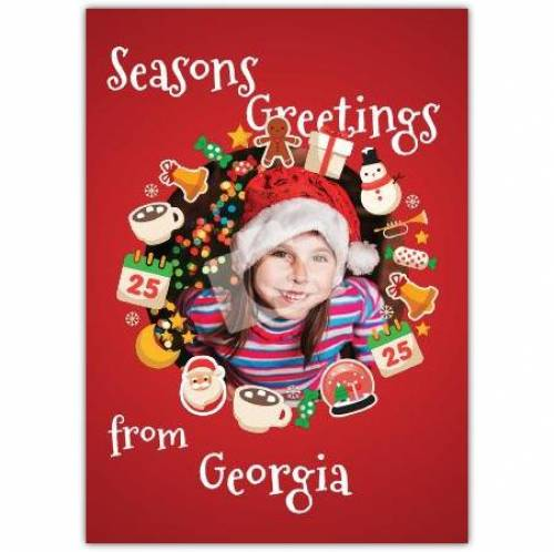 Seasons Greetings Photo Picture Card