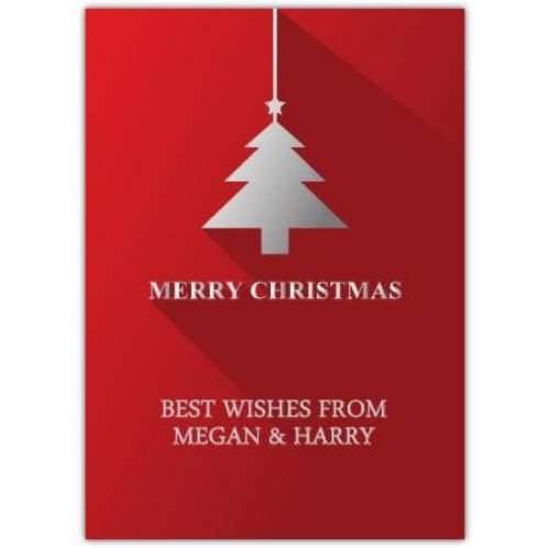 Merry Christmas Silver Tree Card