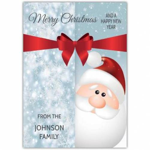 Happy New Year Santa Christmas Card