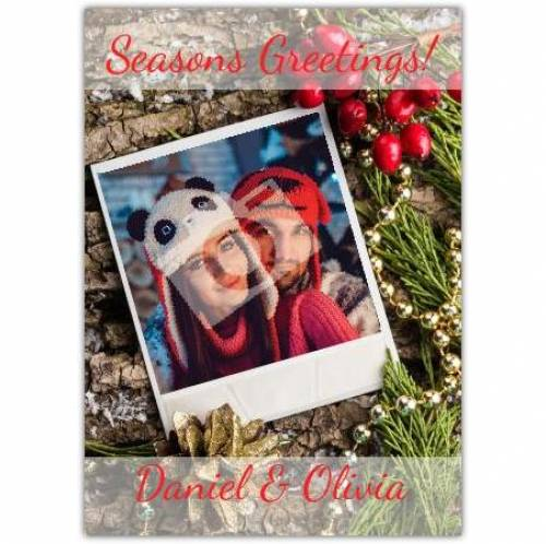 Seasons Greetings Polaroid Picture Card