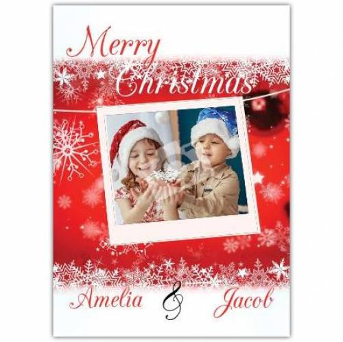 Snowflake Photo Christmas Card