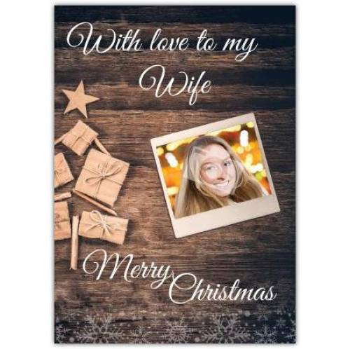 With Love To My Wife Christmas Card