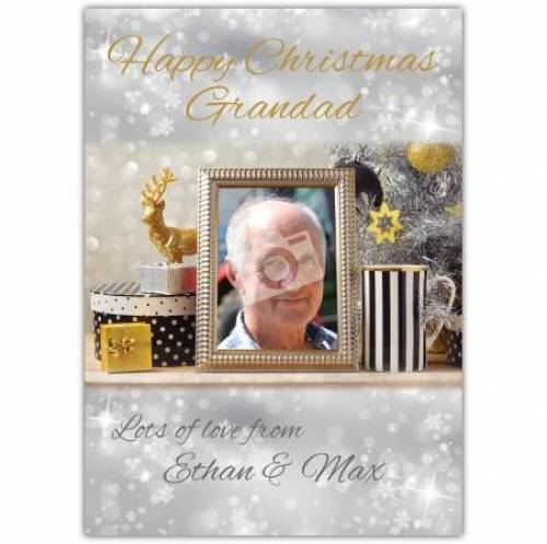 Happy Christmas Grandad Photo Frame Card
