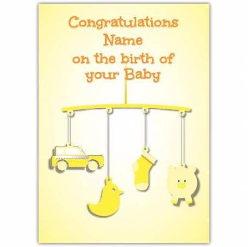 Congratulations Neutral Baby Card