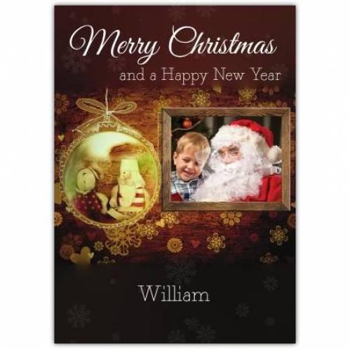 Merry Christmas Frame Photo Card