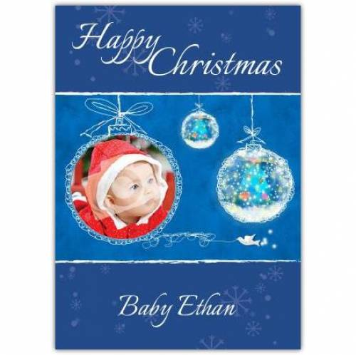 Happy Christmas Bauble Card