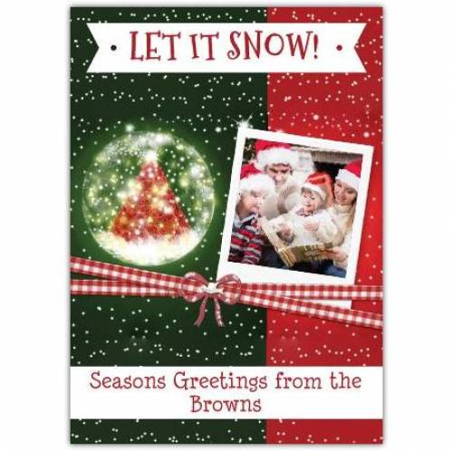 Let It Snow Ribbon Card