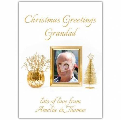 Christmas Greetings Grandad  Card
