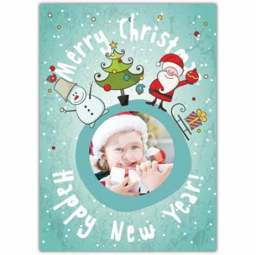 Merry Christmas Happy New Year Photo Card