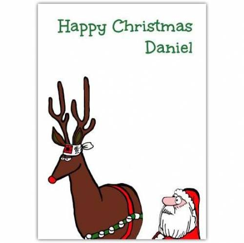 Happy Christmas Reindeer  Card