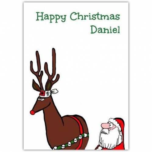 Happy Christmas Reindeer Card