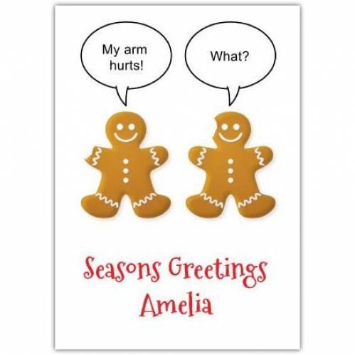 Gingerbread Men Funny Card