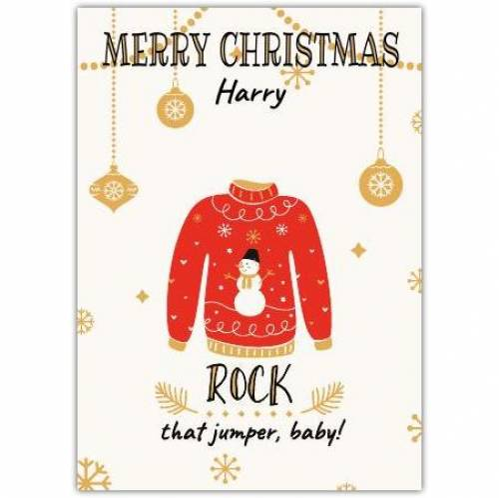 Christmas Jumper Card