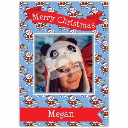 Merry Christmas Banner Santa Card