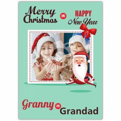 Merry Christmas Granny And Grandad Card
