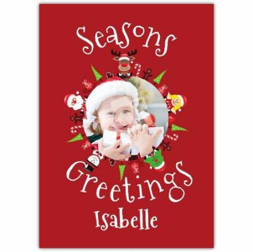 Seasons Greetings Picture Photo Card