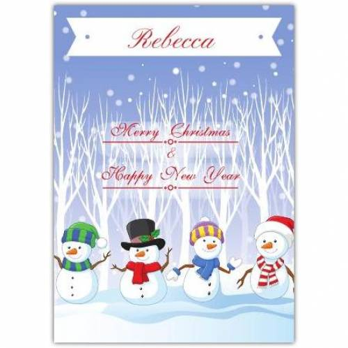 Merry Christmas Snowmen Card