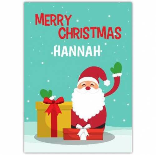 Merry Christmas Santa Gifts Card