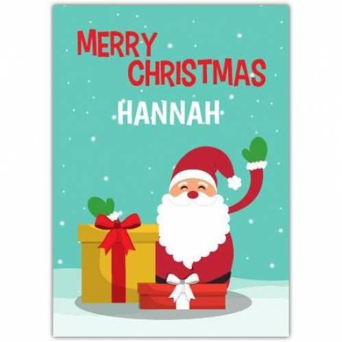 Merry Christmas Santa Gifts Card