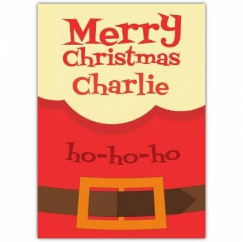Merry Christmas Ho-ho-ho Card