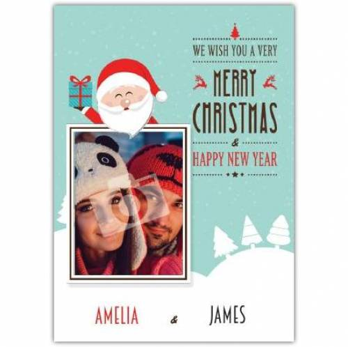 Merry Christmas And Happy New Year Photo Card