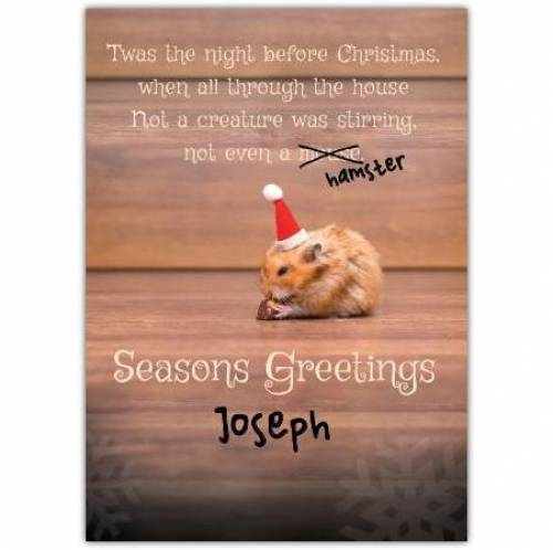 Seasons Greetings Twas The Night Before Christmas Card