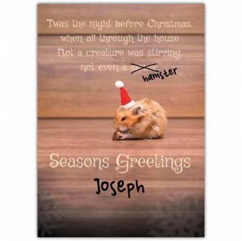 Seasons Greetings Twas The Night Before Christmas Card