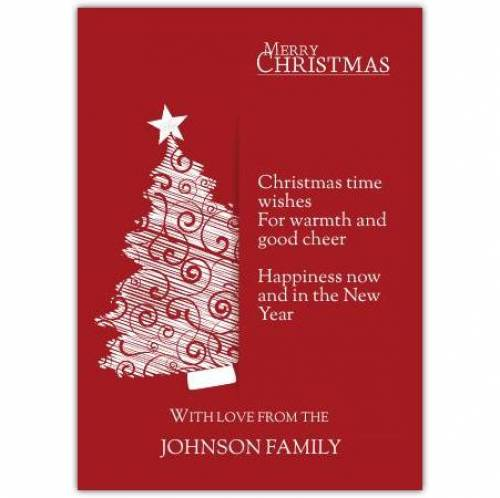 Christmas Time Wishes Card