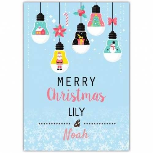 Merry Christmas Light Bulb Card