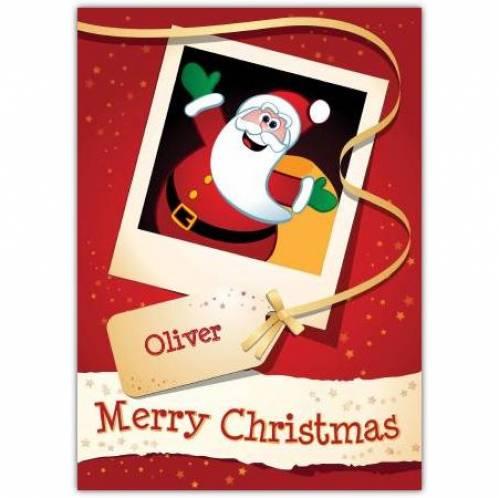 Polaroid Santa Merry Christmas Card
