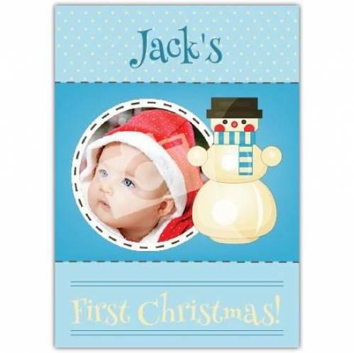 Snowman First Christmas Card
