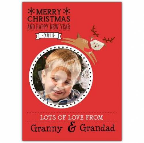 Lots Of Love From Merry Christmas And Happy New Year Card