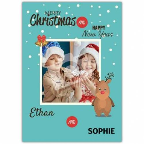 Rudolph Merry Christmas And Happy New Year Card