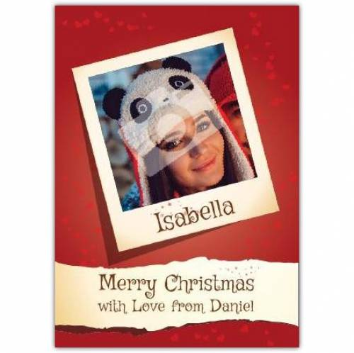 Love From Merry Christmas Card