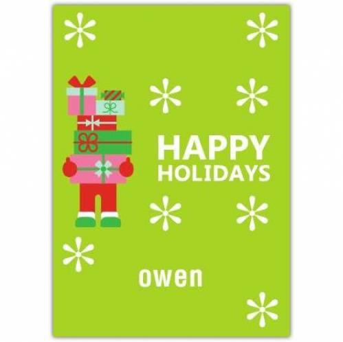 Presents Happy Holidays Card