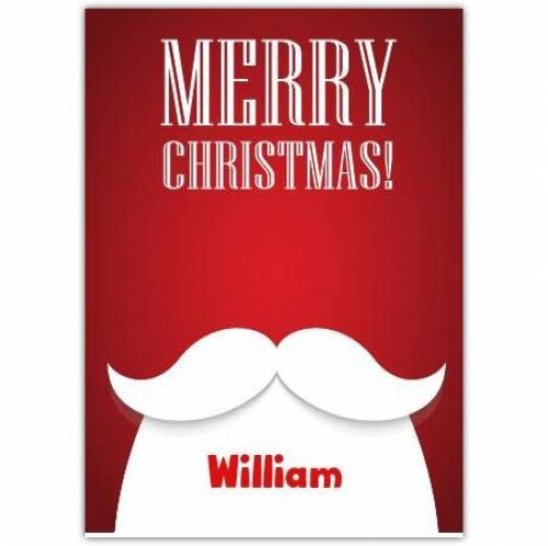 White Beard Merry Christmas Card