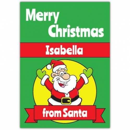 From Santa Merry Christmas Card