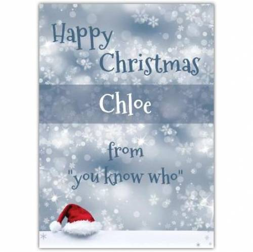 From You Know Who Happy Christmas Card