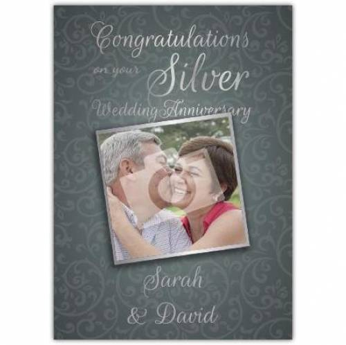Photo Congratulations On Your Silver 25th Wedding Anniversary Card