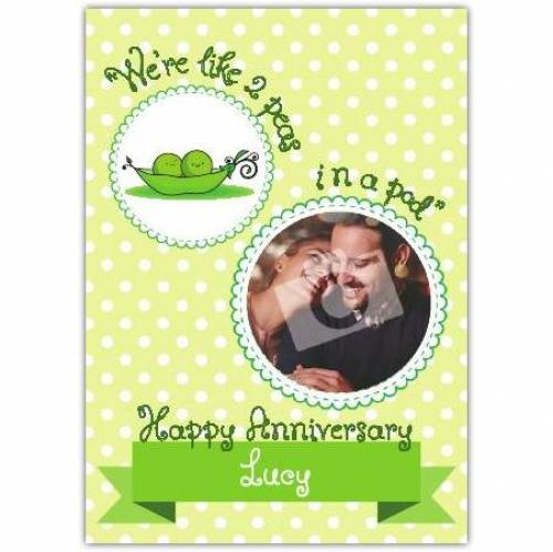 Two Peas In A Pod Happy Anniversary Card