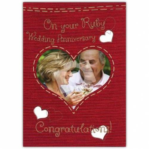 Congratulations On Your Ruby 40th Anniversary Card