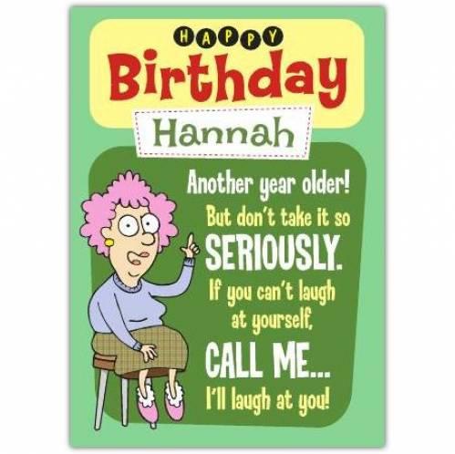 Aunty Acid Another Year Older Birthday Card